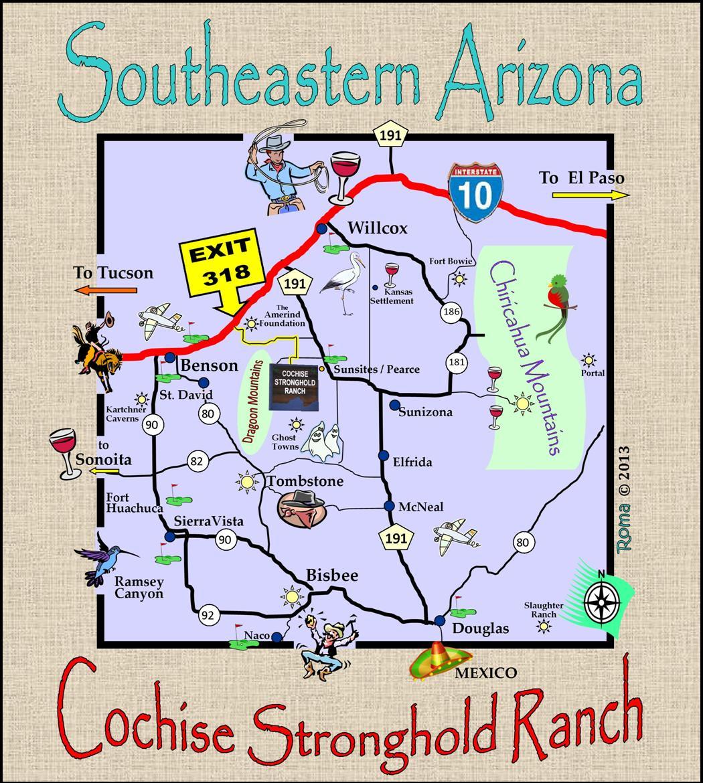 Pearce Arizona Map.Map Directions